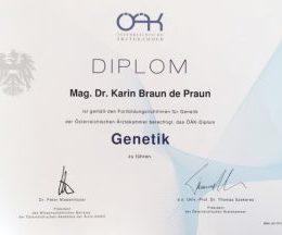Dr. Braun de Praun - Diplom