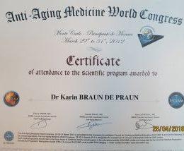 Dr. Braun de Praun - Zertifikat